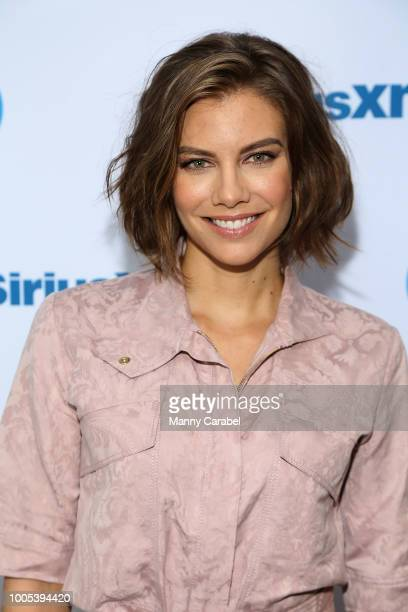Actress Lauren Cohan visits the SiriusXM Studios on July 25, 2018 in New York City.