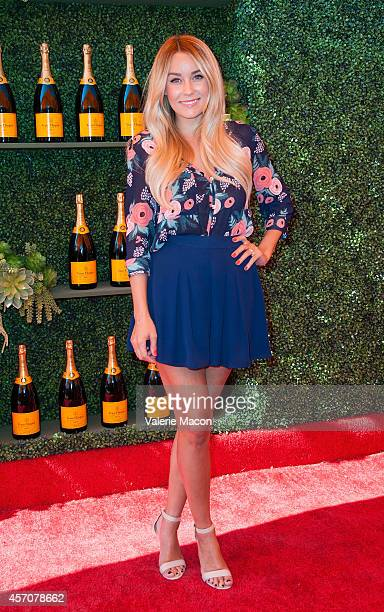 Actress Lauren Conrad arrives at the FifthAnnual Veuve Clicquot Polo Classic Los Angeles at Will Rogers State Historic Park on October 11 2014 in...