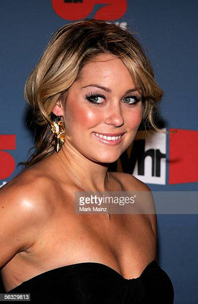 Actress Lauren Conrad arrives at the VH1 Big In '05 Awards held at Stage 15 on the Sony lot on December 3 2005 in Culver City California