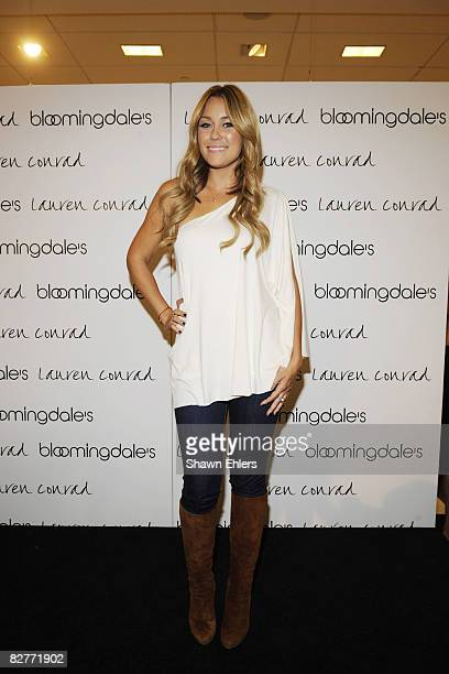 Actress Lauren Conrad attends the Lauren Conrad Collection Fall 2008 show at Bloomingdale's on September 10 2008 in New York City