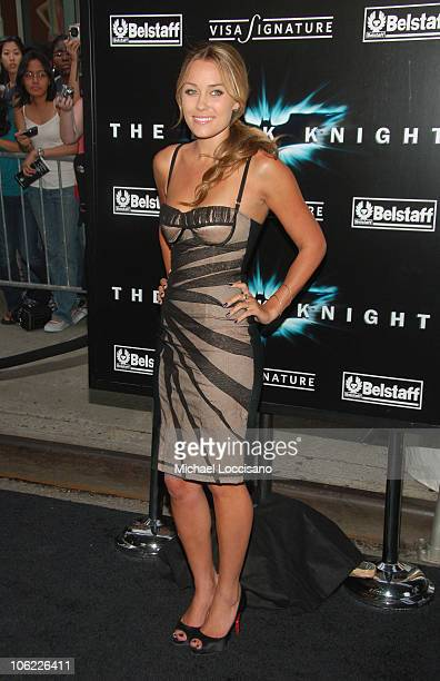 """Actress Lauren Conrad attends the """"The Dark Knight"""" premiere at the AMC Loews Lincoln Square theater on July 14, 2008 in New York City."""