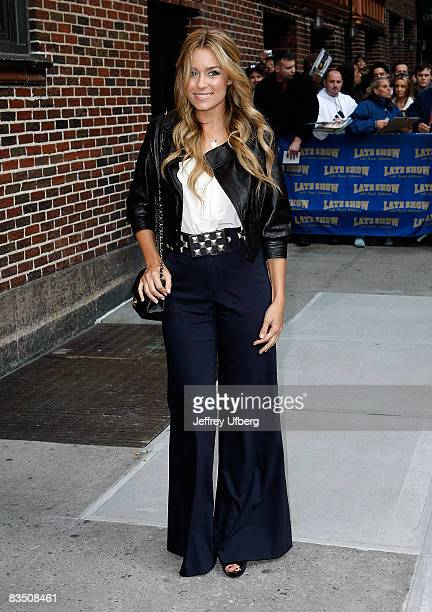 Actress Lauren Conrad visits Late Show with David Letterman at the Ed Sullivan Theater on October 27 2008 in New York City