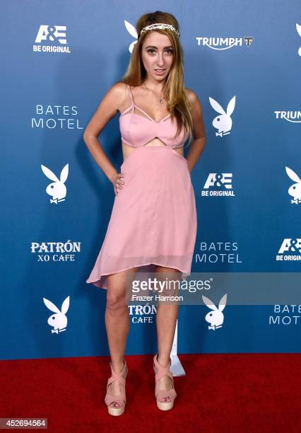 Actress Lauren Francesca attends Playboy and AE 'Bates Motel' Event during ComicCon International 2014 on July 25 2014 in San Diego California