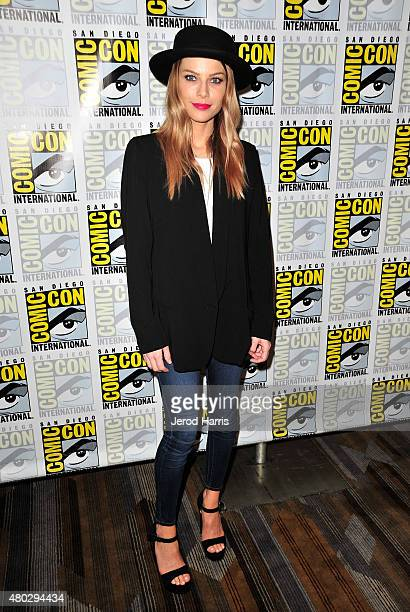 Actress Lauren German attends the Lucifer press room during ComicCon International 2015 at the Hilton Bayfront on July 10 2015 in San Diego California