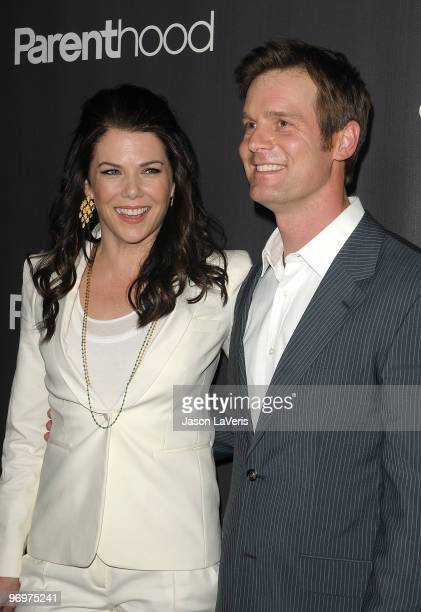 Actress Lauren Graham and actor Peter Krause attend the premiere screening of NBC Universal's 'Parenthood' at the Directors Guild Theatre on February...
