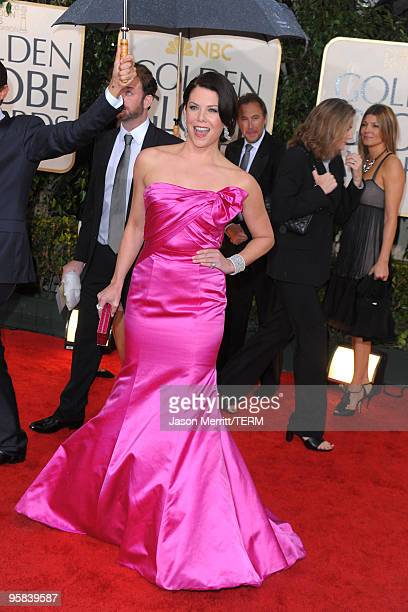 Actress Lauren Graham arrives at the 67th Annual Golden Globe Awards held at The Beverly Hilton Hotel on January 17 2010 in Beverly Hills California