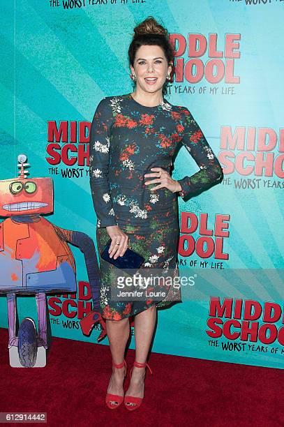 Actress Lauren Graham arrives at the Premiere of CBS Films' 'Middle School The Worst Years Of My Life' at the TCL Chinese 6 Theatres on October 5...