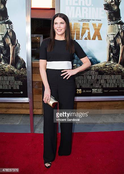 Actress Lauren Graham attends the Los Angeles premiere of 'MAX' at the Egyptian Theatre on June 23 2015 in Hollywood California
