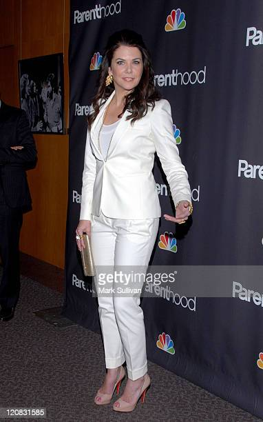 Actress Lauren Graham attends the Los Angeles premiere of 'Parenthood' at the Directors Guild Theatre on February 22 2010 in West Hollywood California