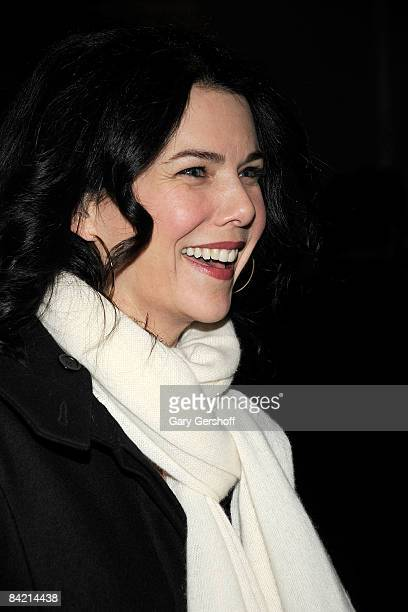 Actress Lauren Graham attends the opening night of Becky Shaw at Second Stage Theatre on January 8 2009 in New York City