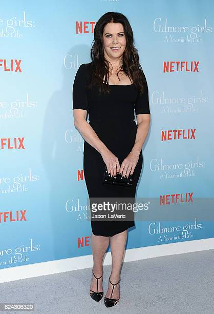 Actress Lauren Graham attends the premiere of 'Gilmore Girls A Year in the Life' at Regency Bruin Theatre on November 18 2016 in Los Angeles...