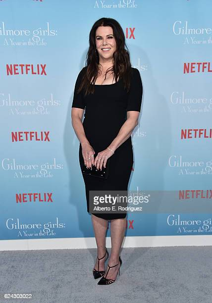 Actress Lauren Graham attends the premiere of Netflix's 'Gilmore Girls A Year In The Life' at the Regency Bruin Theatre on November 18 2016 in Los...