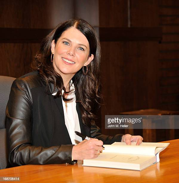 Actress Lauren Graham signs copies of her new book Someday Someday Maybe at Barnes Noble bookstore at The Grove on May 6 2013 in Los Angeles...