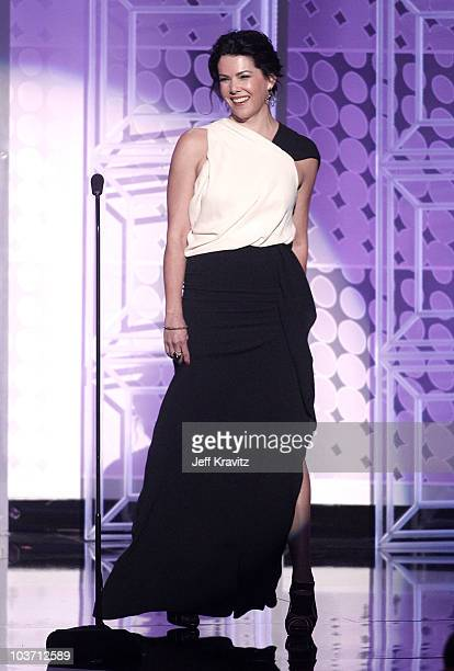 Actress Lauren Graham speaks onstage at the 62nd Annual Primetime Emmy Awards held at the Nokia Theatre L.A. Live on August 29, 2010 in Los Angeles,...
