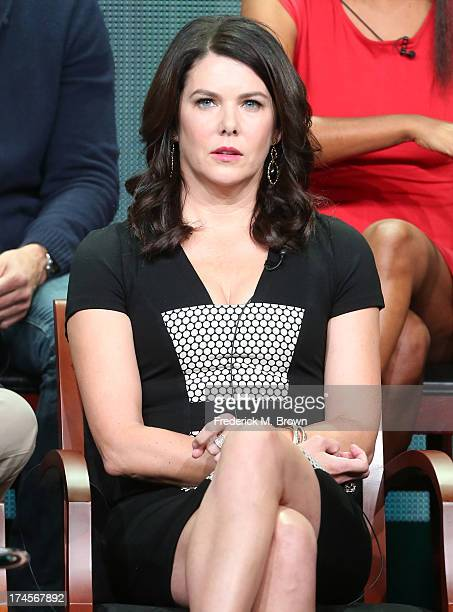Actress Lauren Graham speaks onstage during the Parenthood panel discussion at the NBC portion of the 2013 Summer Television Critics Association tour...