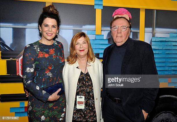 Actress Lauren Graham Terry Press CBS Films President and James Patterson author and executive producer attend the Los Angeles red carpet screening...