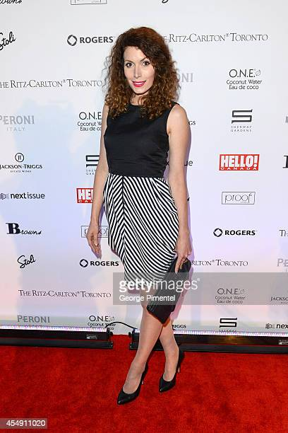 Actress Lauren Hammersley attends the HELLO Canada's 2014 Toronto International Film Festival Gala held at Ritz Carlton on September 6 2014 in...