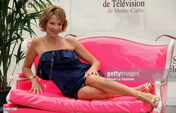 Actress Lauren Holly attends a photocall promoting the television serie 'NCIS' on the second day of the 2007 Monte Carlo Television Festival held at...