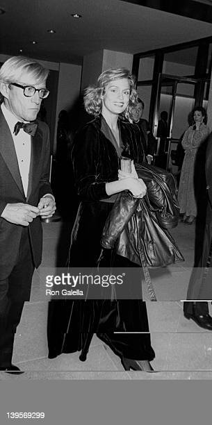 Actress Lauren Hutton attends Museum of Modern Art Expansion Celebration on May 7 1984 at the Museum of Modern Art in New York City