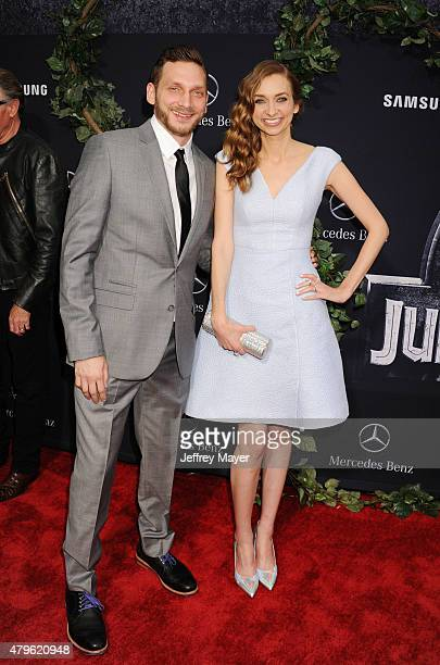 Actress Lauren Lapkus and brother Julian arrive at the 'Jurassic World' World Premiere at Dolby Theatre on June 9 2015 in Hollywood California