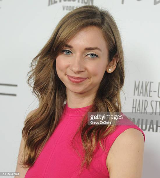 Actress Lauren Lapkus arrives at the MakeUp Artists And Hair Stylists Guild Awards at Paramount Studios on February 20 2016 in Hollywood California
