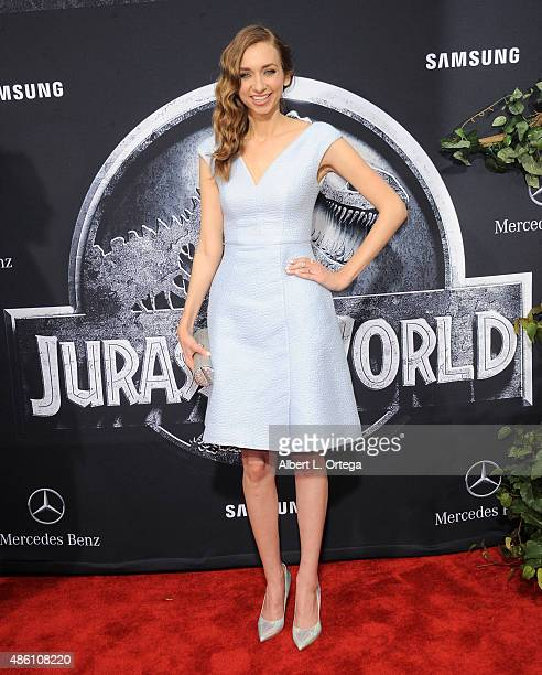 Actress Lauren Lapkus arrives for the Premiere Of Universal Pictures' Jurassic World held in the courtyard of Hollywood Highland on June 9 2015 in...