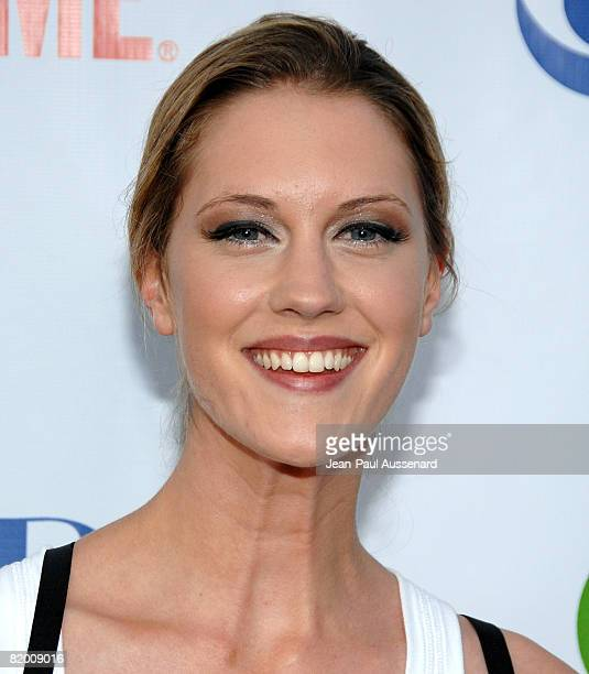 Actress Lauren Lee Smith arrives at the CBS CW and Showtime Press Tour Stars Party held at Boulevard 3 on July 18th 2008 in Hollywood California