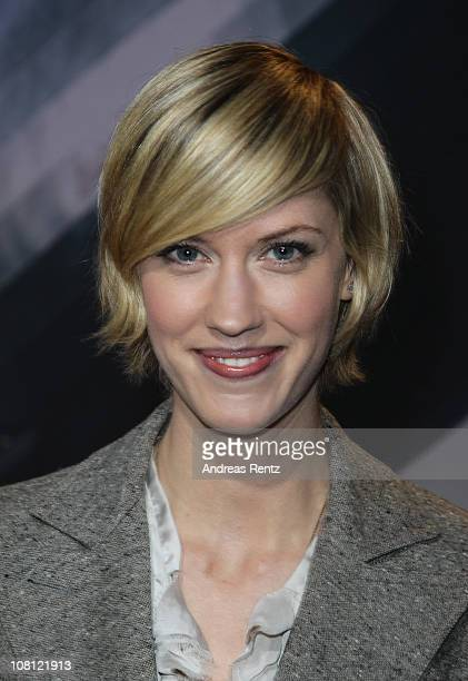 Actress Lauren Lee Smith arrives for the Hindenburg premiere at Kosmos theater on January 18 2011 in Berlin Germany
