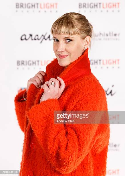 Actress Lauren Lee Smith attends Brightlight Pictures' WFF White Carpet Party at Araxi on December 4 2015 in Whistler Canada