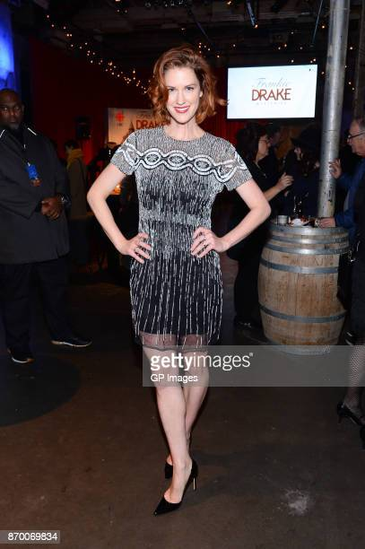 Actress Lauren Lee Smith attends the CBC launch of Frankie Drake Mysteries at the Fermenting Cellar on November 3 2017 in Toronto Canada
