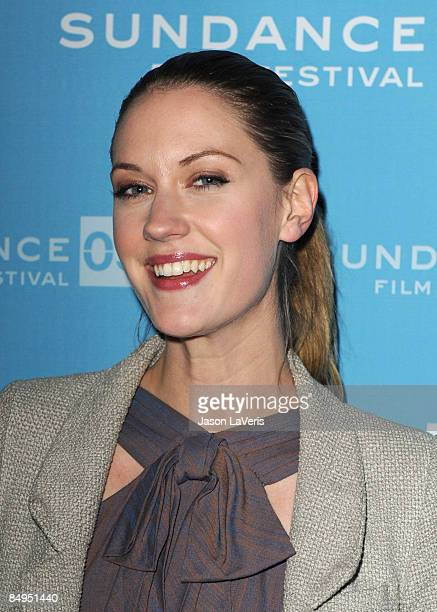 Actress Lauren Lee Smith attends the premiere of 'Helen' during the 2009 Sundance Film Festival at Library Center Theatre on January 16 2009 in Park...