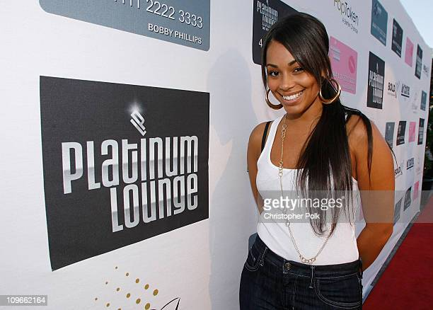 Actress Lauren London arrives at the Hollywood launch of PlatinumLounge.com at The Globe Theatre on July 7, 2007 in Los Angeles California.