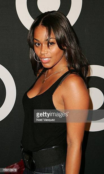 Actress Lauren London arrives for Common's CD Finding Forever release party held at One Sunset on July 31 2007 in Los Angeles California