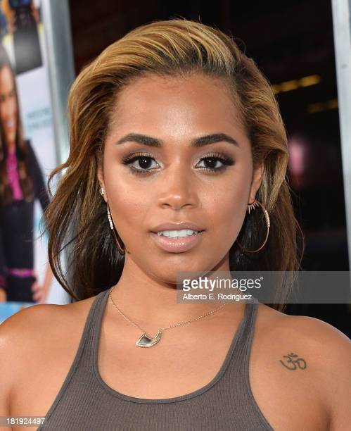 Actress Lauren London attends the premiere of Fox Searchlight Pictures' Baggage Claim at Regal Cinemas LA Live on September 25 2013 in Los Angeles...