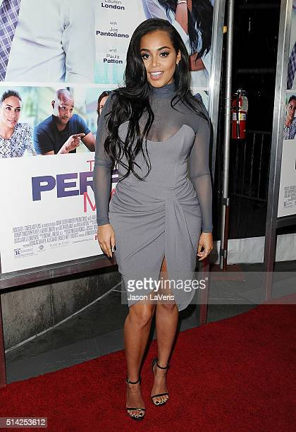 Actress Lauren London attends the premiere of The Perfect Match at ArcLight Hollywood on March 7 2016 in Hollywood California