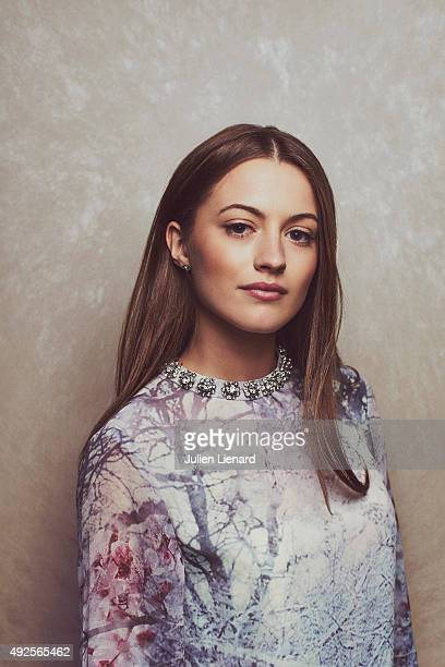 Actress Lauren McQueen is photographed for Self Assignment on October 1 2015 in Dinard France