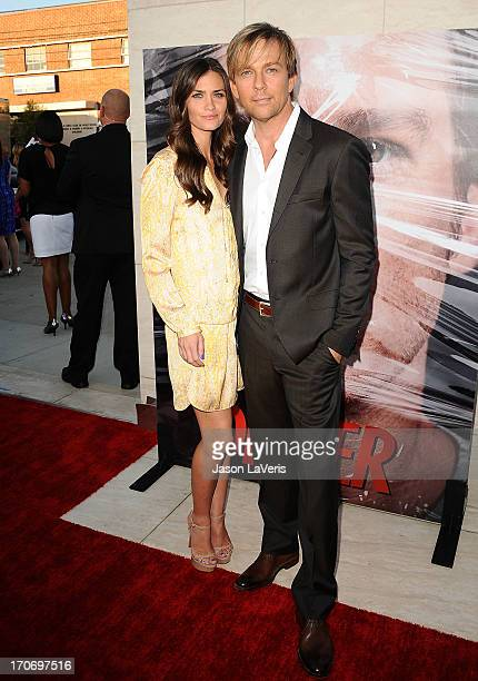 Actress Lauren Michelle Hill and actor Sean Patrick Flanery attend the Dexter series finale season premiere party at Milk Studios on June 15 2013 in...