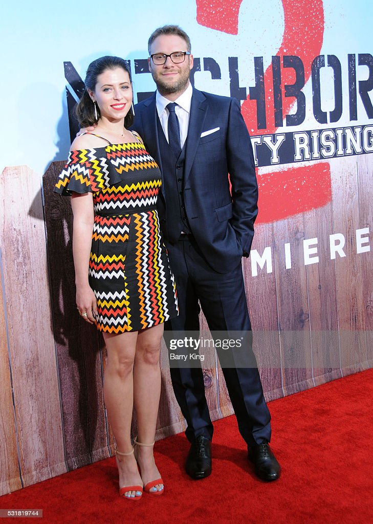 Actress Lauren Miller and writer/producer/actor Seth Rogen attend the American Premiere of Universal Pictures' 'Neighbors 2: Sorority Rising' at Regency Village Theatre on May 16, 2016 in Westwood, California.