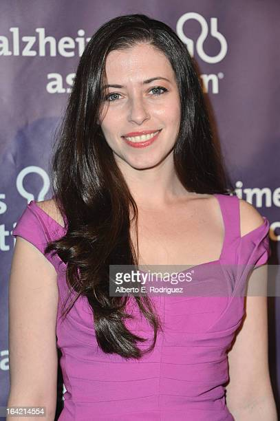 Actress Lauren Miller arrives at 21st Annual 'A Night At Sardi's' gala benefiting the Alzheimer's Association Arrivals at The Beverly Hilton Hotel on...