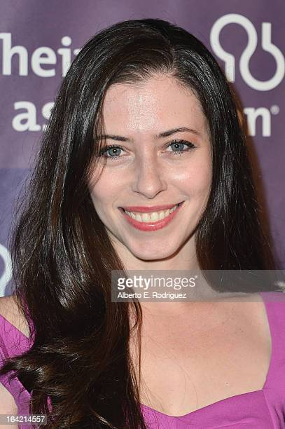 Actress Lauren Miller arrives at 21st Annual A Night At Sardi's gala benefiting the Alzheimer's Association Arrivals at The Beverly Hilton Hotel on...