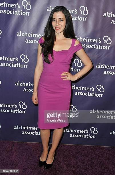 Actress Lauren Miller arrives at the 21st Annual 'A Night At Sardi's' to benefit the Alzheimer's Association at The Beverly Hilton Hotel on March 20...