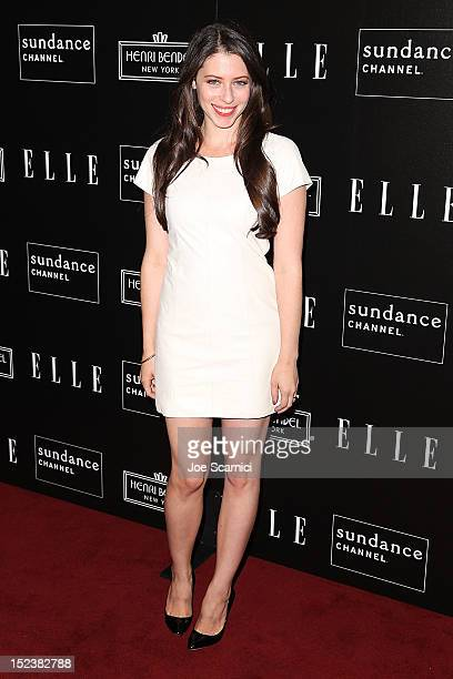 Actress Lauren Miller arrives at the ELLE Sundance Channel Celebrate 'All On The Line With Joe Zee' event at Soho House on September 19 2012 in West...