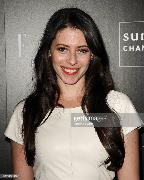 Actress Lauren Miller attends ELLE Sundance Channel's celebration of 'All On The Line With Joe Zee' at Soho House on September 19 2012 in West...