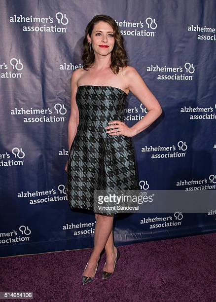 Actress Lauren Miller attends the 24th and final 'A Night at Sardi's' to benefit the Alzheimer's Association at The Beverly Hilton Hotel on March 9...