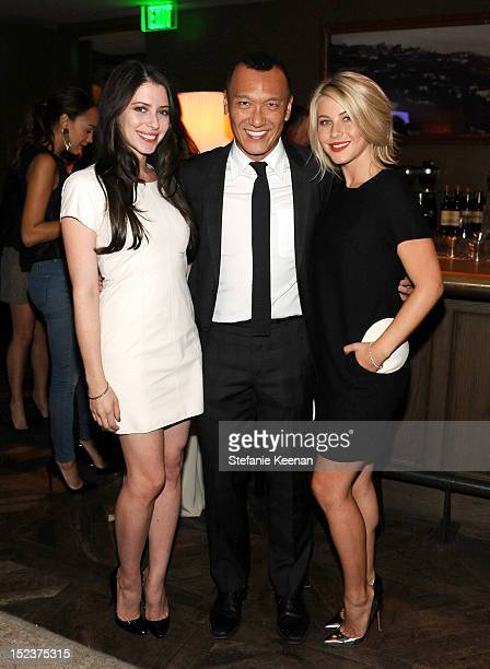 Actress Lauren Miller ELLE creative director Joe Zee and actress/dancer Julianne Hough attend ELLE and Sundance Channel's 'All on the Line with Joe...