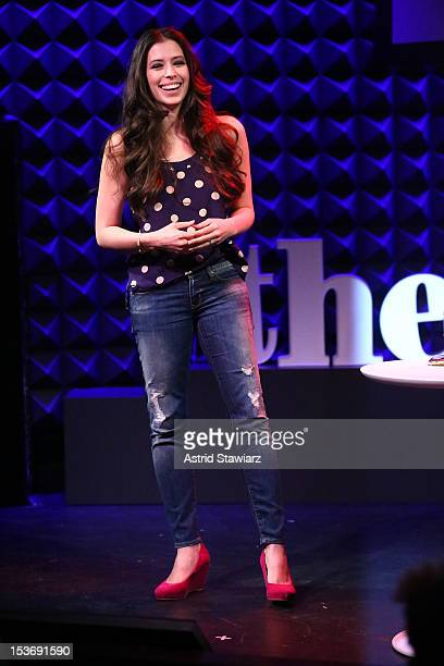 Actress Lauren Miller performs at Glamour Presents 'These Girls' at Joe's Pub on October 8 2012 in New York City