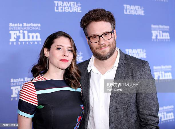 BARBARA CA FEBRUARY Actress Lauren Miller Rogen and Actor Seth Rogen attend the Virtuosos Award at the Arlington Theater at the 31th Santa Barbara...