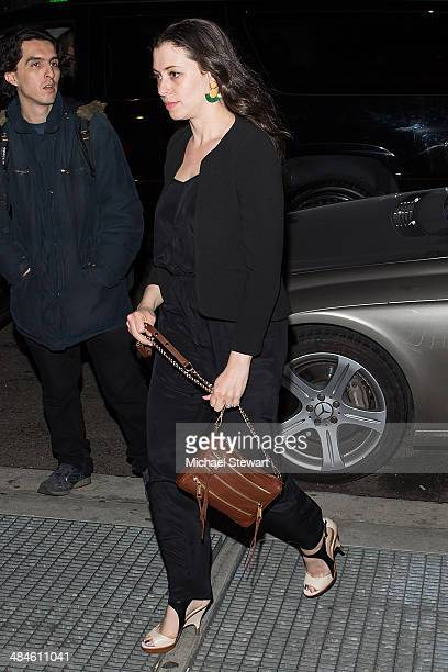 Actress Lauren Miller seen arriving at the after party for Saturday Night Live on April 13 2014 in New York City
