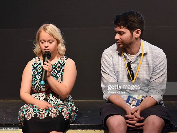 Actress Lauren Potter and director Joshua Tate do a QA at the 2015 Palm Springs International ShortFest Day 2 on June 17 2015 in Palm Springs...