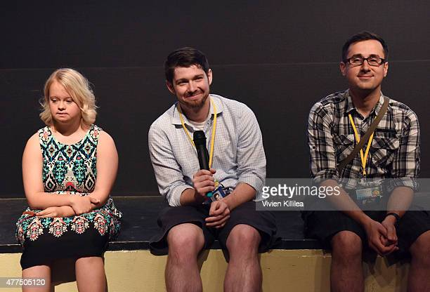 Actress Lauren Potter and directors Joshua Tate and Dima Otvertchenko do a QA at the 2015 Palm Springs International ShortFest Day 2 on June 17 2015...